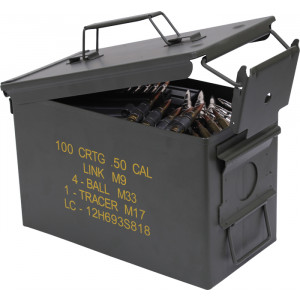 .50 Cal NEW Metal Original Military M2A1 Ammo Can