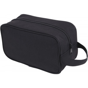 Black Polyester Personal Travel Carry Case Toiletry Kit