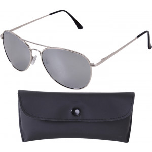 Chrome Frame & Mirror Lenses 58 MM Polarized Aviator Sunglasses