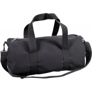 Black Canvas Sports Gym Duffle Shoulder Carry Bag & Strap