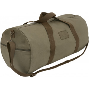 Two-Tone Shoulder Duffle With Loop Patch