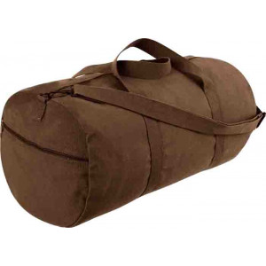 "Earth Brown Military Heavy Duty Shoulder Bag (24"" x 12"")"