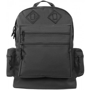 Black Deluxe Water Resistant Military Backpack