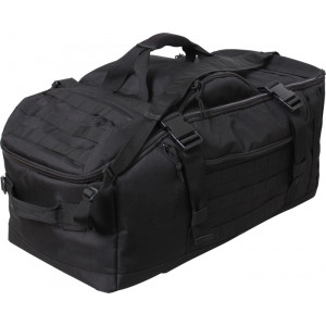 Black Multi Functional Convertible 3 In 1 Mission Duffle Bag