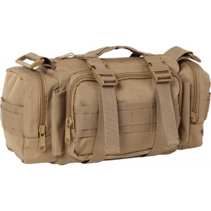 Coyote Brown Military MOLLE Configurable Tactical Shoulder Bag