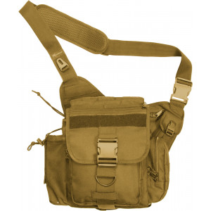 Coyote Brown Jumbo Military MOLLE Advanced Tactical Shoulder Bag