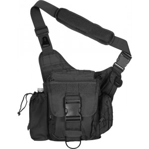Black Military MOLLE Advanced Tactical Shoulder Bag