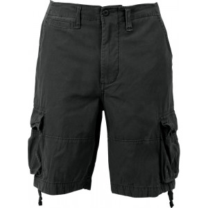 Black Vintage Military Infantry Utility Shorts