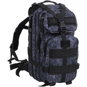 Midnight Digital Camouflage Military MOLLE Medium Transport Backpack