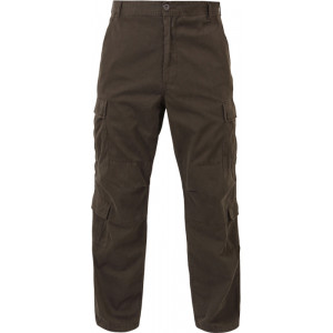 Brown Vintage Military Paratrooper BDU Pants