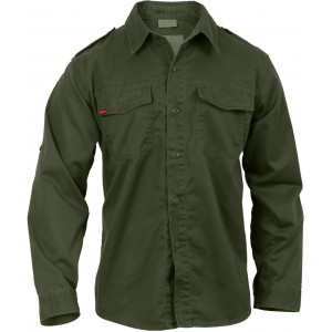 Olive Drab Vintage Style Military BDU Shirt