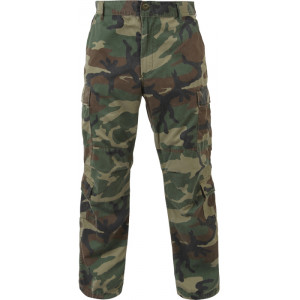 Woodland Camouflage Vintage Military Paratrooper BDU Pants