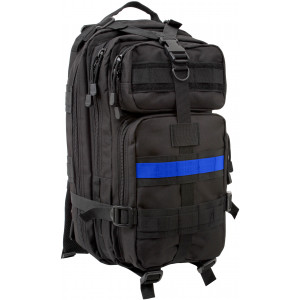 Black Support The Police Medium Transport Backpack w/ Thin Blue Line