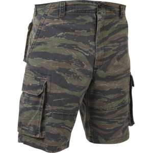 Tiger Stripe Camouflage Vintage Military Paratrooper Cargo Shorts