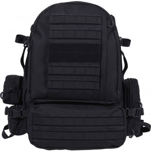 Black Military Tactical  Extended Deployment MOLLE Backpack