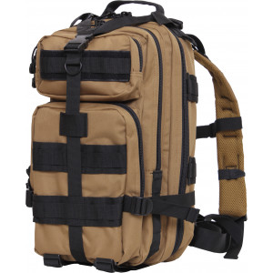 Coyote Brown Black Military MOLLE Medium Transport Assault Pack Backpack