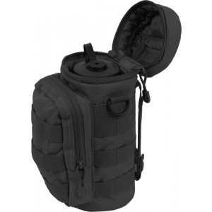 Black MOLLE Travel Water Bottle Carry Pouch