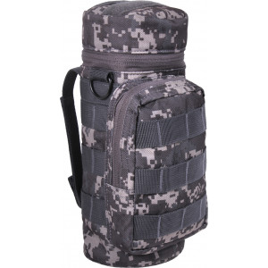 Subdued Urban Digital Camouflage MOLLE Travel Water Bottle Carry Pouch