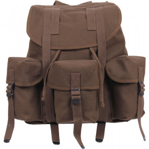 Earth Brown Military Heavy Weight Canvas Mini Alice Pack