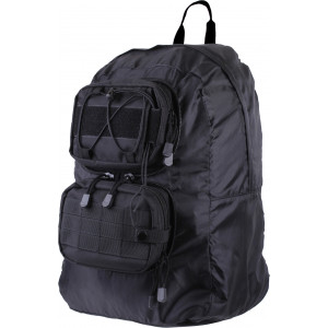 Black MOLLE Tactical Hydration Foldable Travel Compact Backpack