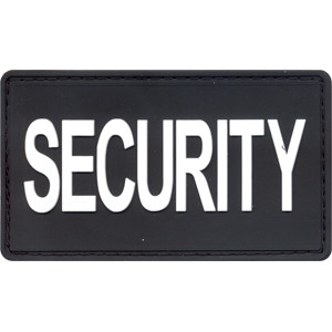 "Black & White PVC Security Hook Patch 1 7/8"" x 3 3/4"""