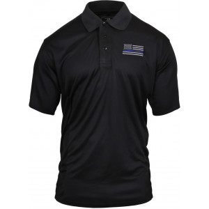 Thin Blue Line Moisture Wicking Polo