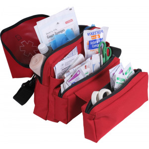 Red EMT EMS Star of Life Professional Medical Field Kit Bag