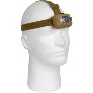 Coyote Brown Deluxe Adjustable 5 Bulb LED Headlamp