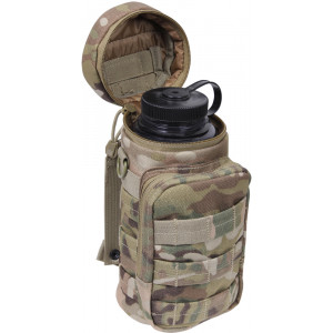 Multi Cam MOLLE Rip Stop Travel Water Bottle Carry Pouch