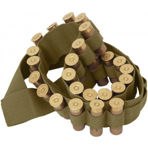 Coyote Brown Shotgun Ammo Shell Bandoleer