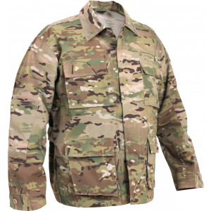 Multi Cam Military Rip-Stop BDU Shirt