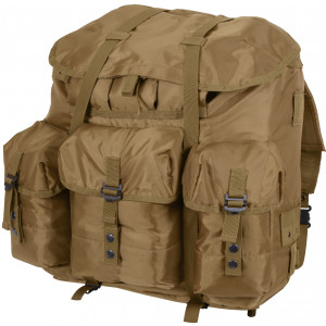 Coyote Brown Military Large Alice Pack Backpack & Metal Frame