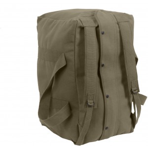 Olive Drab Canvas Mossad Type Tactical Canvas Cargo Bag