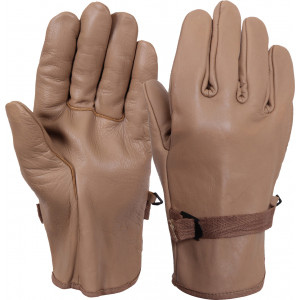 Coyote Brown D-3A Type Military Leather Gloves
