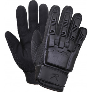 Black Military Armored Hard Back Tactical Duty Assault Gloves