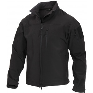 Black Stealth Ops Soft Shell Tactical Jacket
