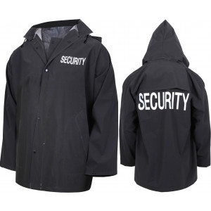 Black Double Sided Waterproof Security Rain Jacket