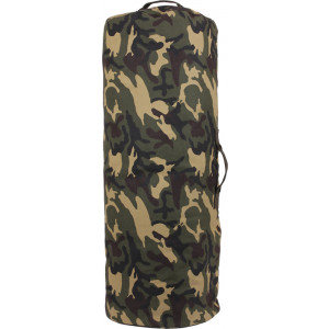 "Woodland Camouflage Side Zipper Canvas Duffle Bag (25"" x 42"")"