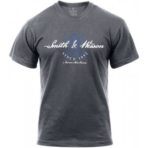 "Grey Smith & Wesson ""American Made Firearms"" T-Shirt"