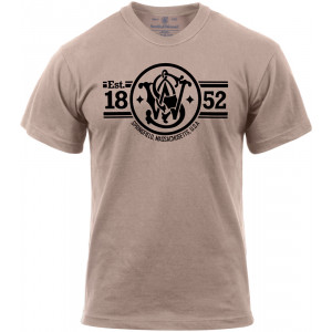 Khaki Smith & Wesson EST. 1852 Logo T-Shirt
