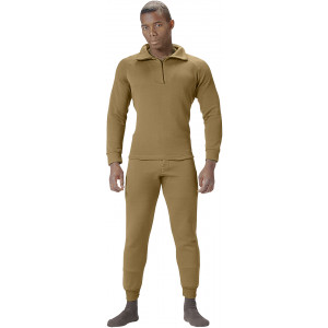 Coyote Brown AR 670-1 ECWCS Fleece Cold Weather Underwear Thermal Pants
