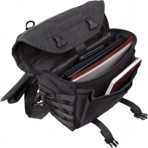 Black Covert Dispatch Tactical Shoulder Bag