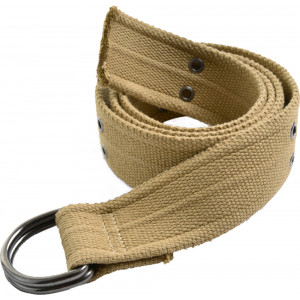 Khaki Heavy Duty Thick Military D-Ring Belt
