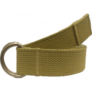 Khaki Military D-Ring Expedition Belt