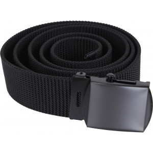 Black Nylon Web Belt with Black Buckle