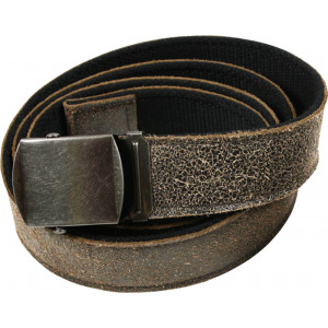 Black Vintage Leather Reversible Web Belt