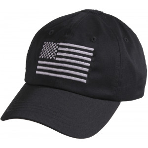 Black Military Embroidered US Flag Tactical Baseball Hat Operator Cap