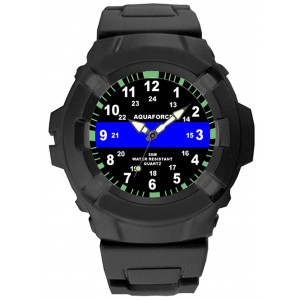 Aquaforce Thin Blue Line Water Resistant Watch