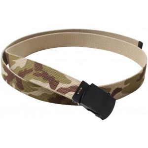 "Tri-Color Desert Camouflage Reversible Web Belt with Black Buckle (54"")"
