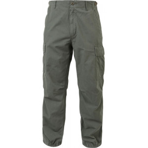 Olive Drab Vintage Vietnam Rip-Stop Military Fatigue Pants